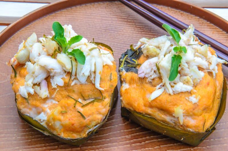 蒸的鱼咖喱 免版税库存照片