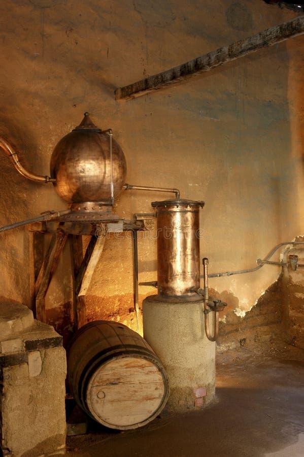 蒸馏器 免版税库存照片