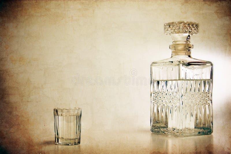 蒸馏瓶射击 免版税库存图片