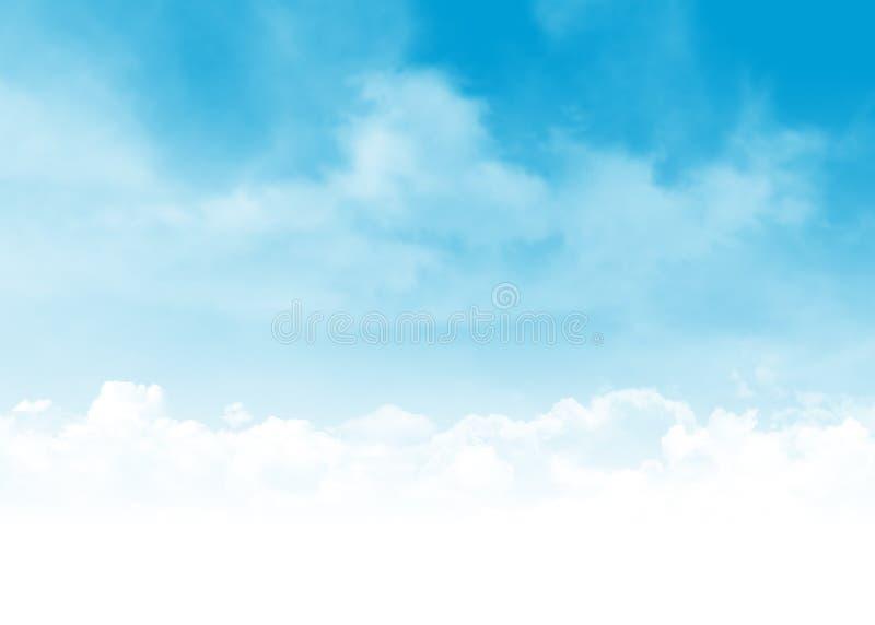 蓝天和云彩抽象例证 免版税库存图片