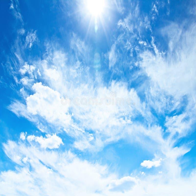 蓝天和云彩 库存照片