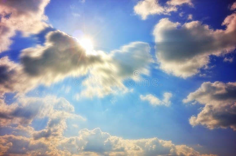 蓝天和云彩 免版税图库摄影