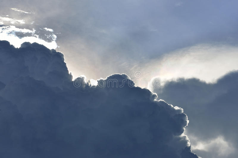 蓝天和美丽的云彩 免版税库存图片