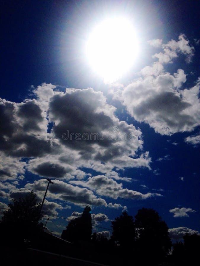 蓝天的 库存照片