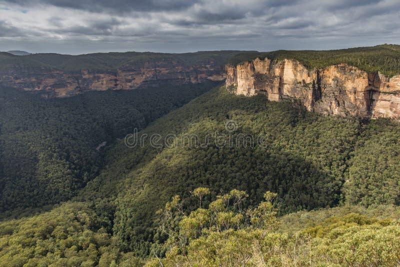 蓝山山脉国家公园NSW,澳大利亚的看法 库存图片