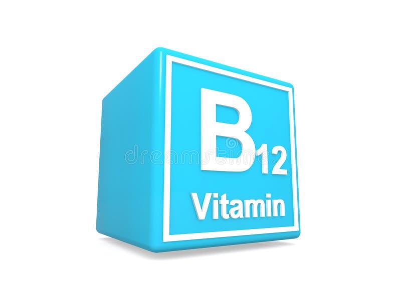 蓝方维生素B12 向量例证