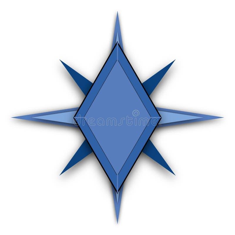 蓝星形状商标概念 皇族释放例证