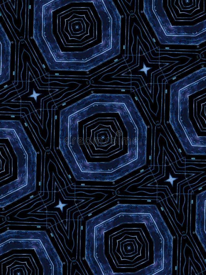 蓝星抽象形状样式 库存照片