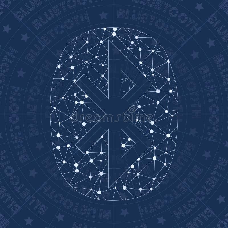 蓝牙网络标志 向量例证