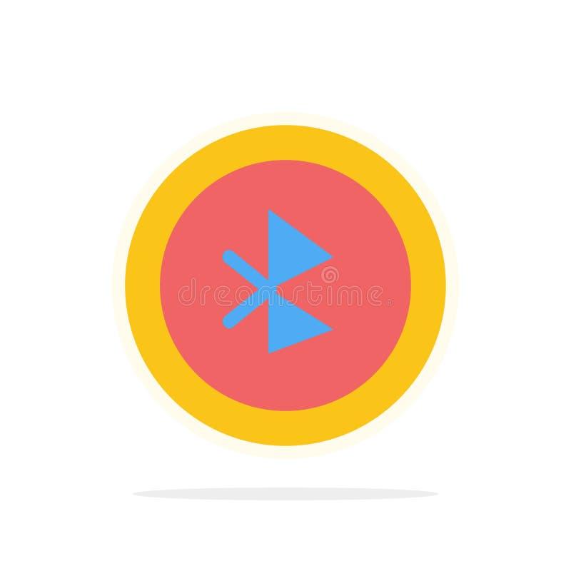 蓝牙,Ui,用户界面摘要圈子背景平的颜色象 库存例证