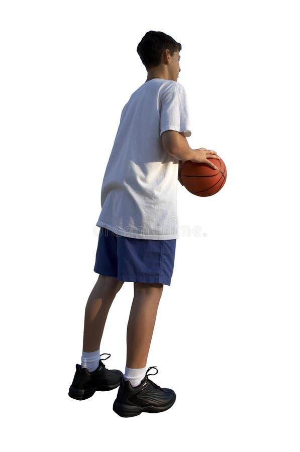 蓝球运动员年轻人 图库摄影