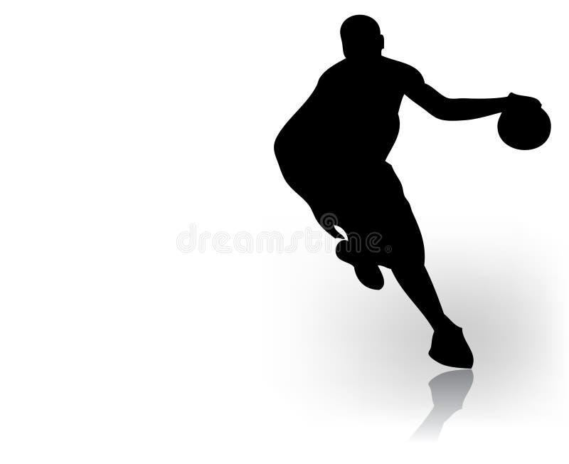 蓝球运动员 向量例证