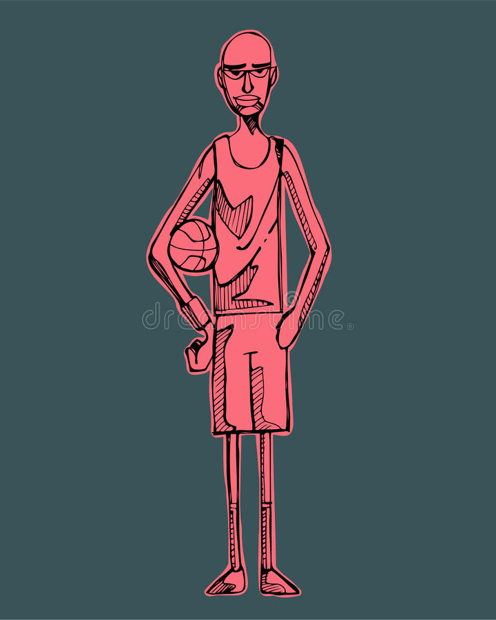 Download 蓝球运动员b 向量例证. 插画 包括有 动画片, 现有量, 例证, 数字式, 向量, 巴达维亚, 皮包骨头 - 59105733