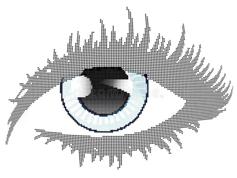 蓝眼睛中间影调 皇族释放例证