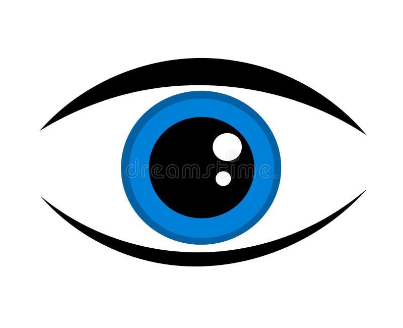 蓝眼睛图标 皇族释放例证