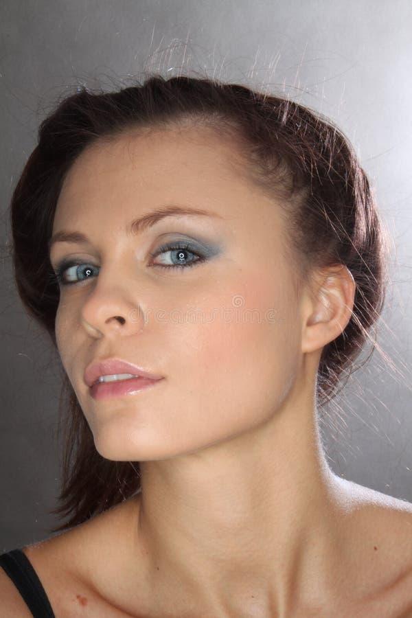 蓝眼睛女孩 图库摄影