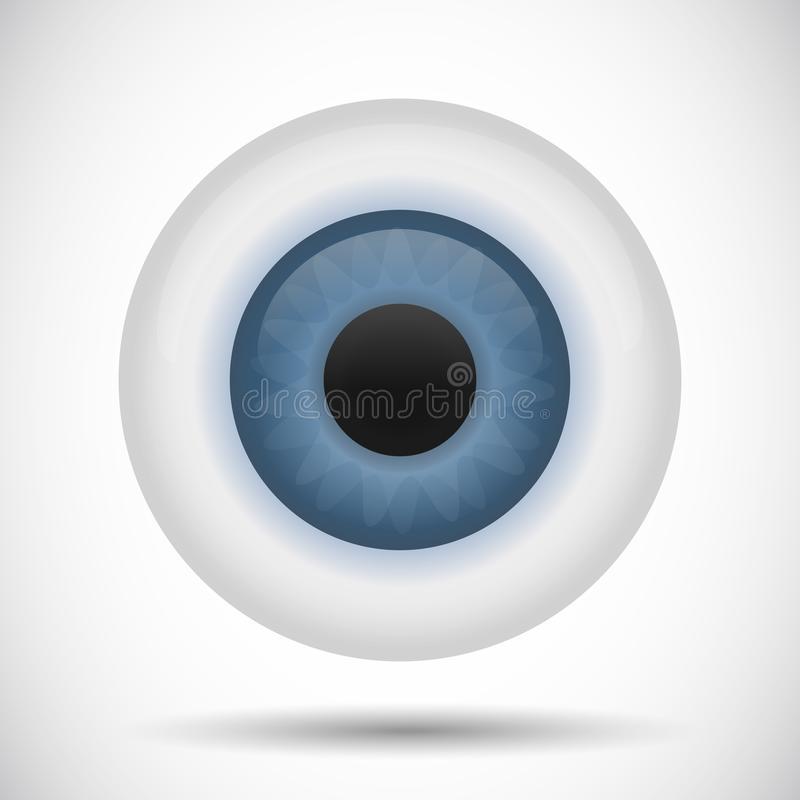 蓝眼睛眼珠虹膜传染媒介例证 库存例证