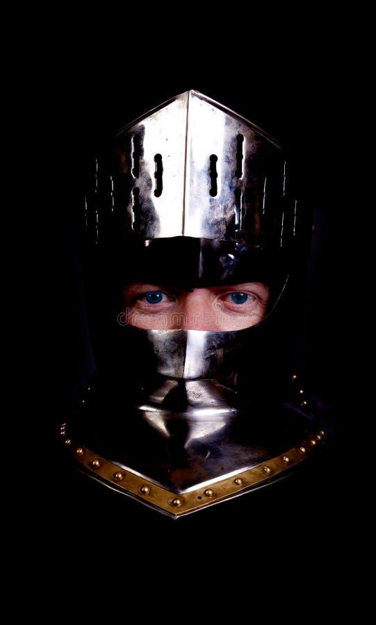 蓝眼睛骑士 库存图片