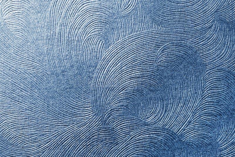 蓝纸纹理 免版税图库摄影