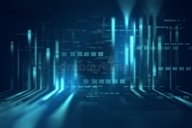 蓝线几何形状摘要技术背景 库存例证
