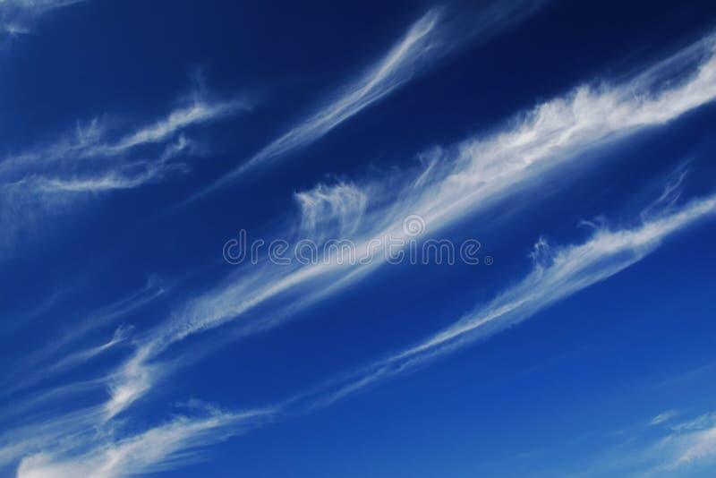 蓝线天空白色 库存照片