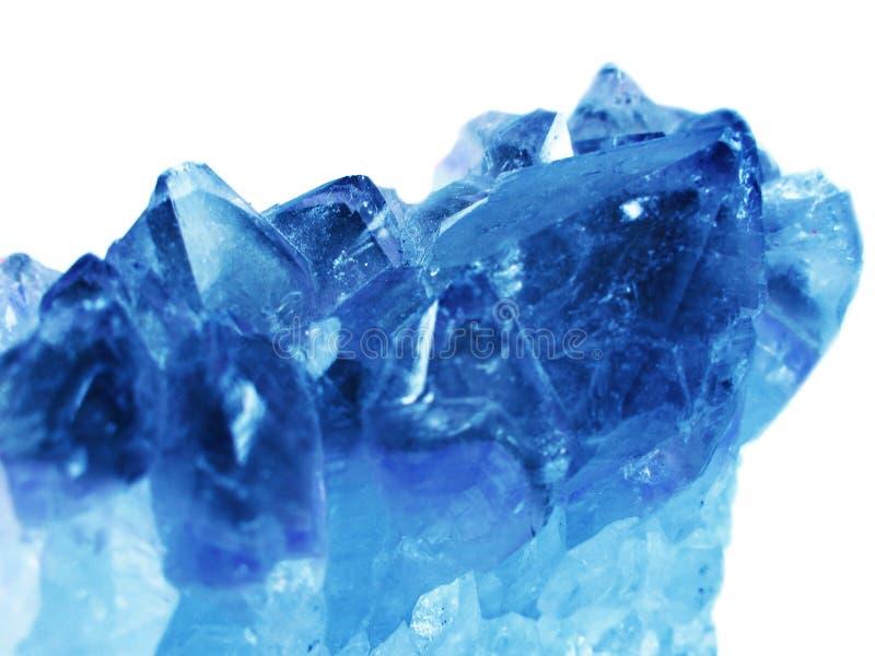 蓝绿色宝石水晶石英矿物地质背景 免版税图库摄影