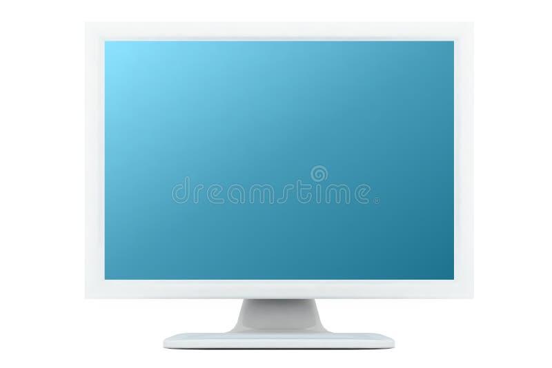 蓝绿色监控程序树荫白色 库存图片