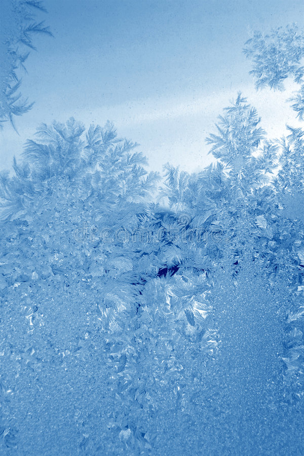 蓝绿色霜 图库摄影