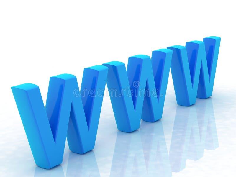 蓝色万维网 库存例证