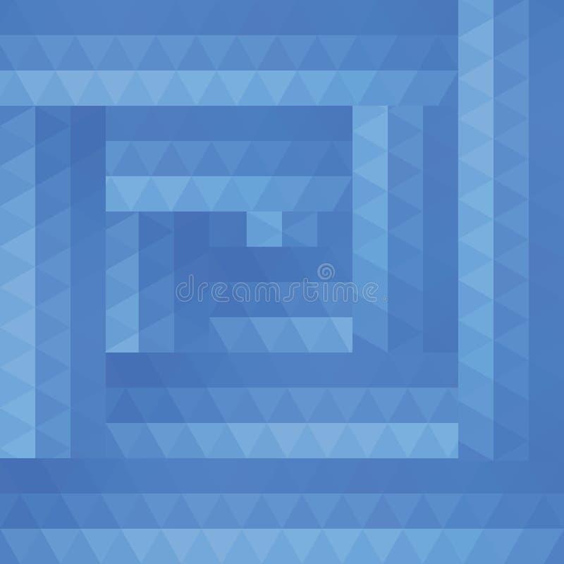 蓝色三角抽象背景  向量例证