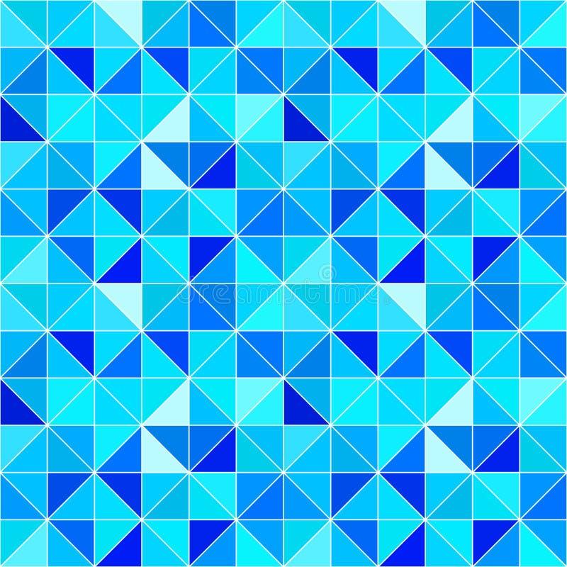 蓝色三角背景 与三角的传染媒介现代几何背景 明亮的颜色 抽象纹理 墙纸为 库存例证