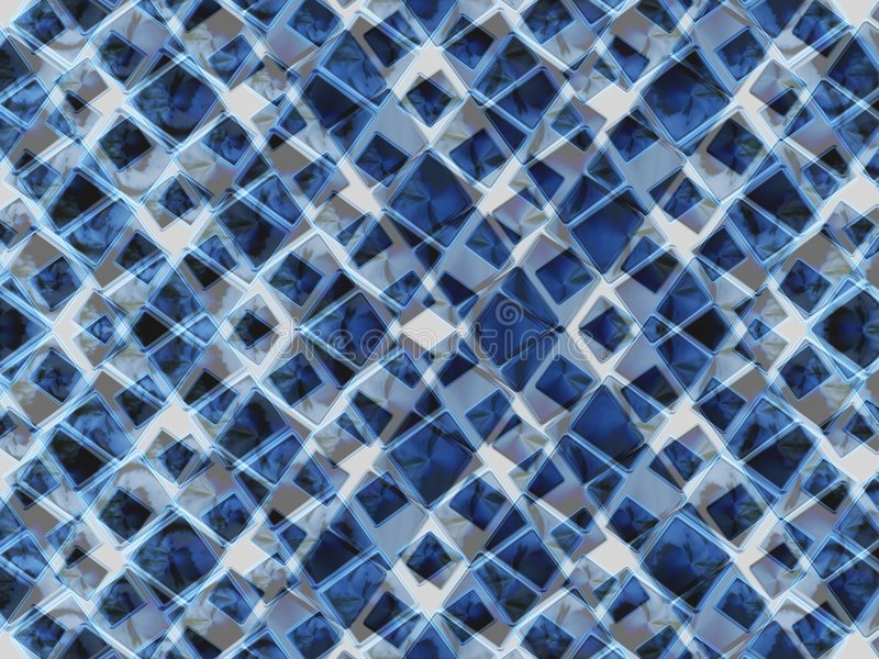 蓝色三角 向量例证