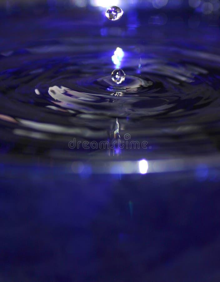 蓝色下落合并二水 免版税库存照片