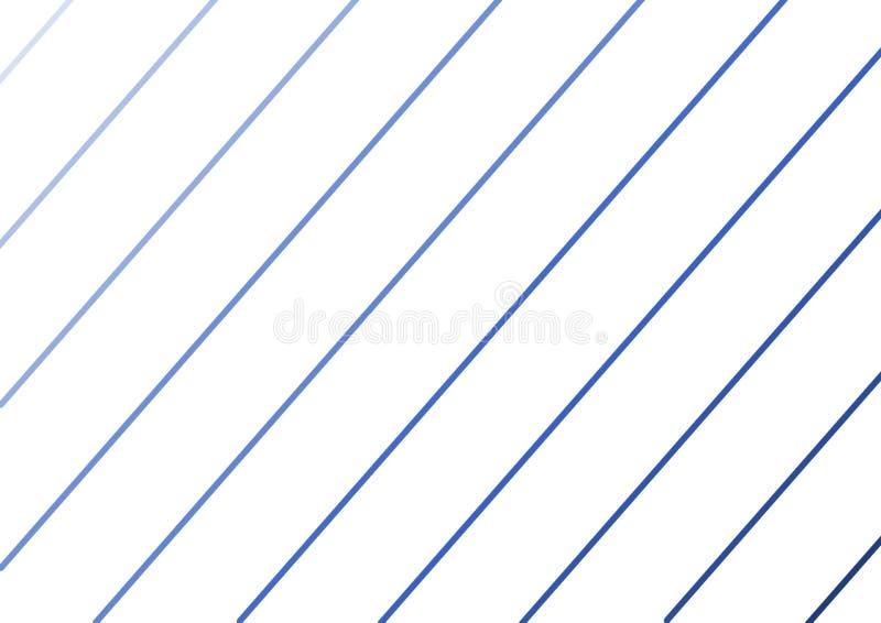 蓝色不同的树荫倾斜的线  向量例证