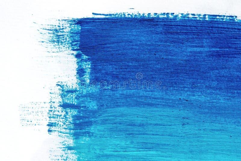 蓝色丙烯酸酯的刷子冲程、形状和梯度 库存例证