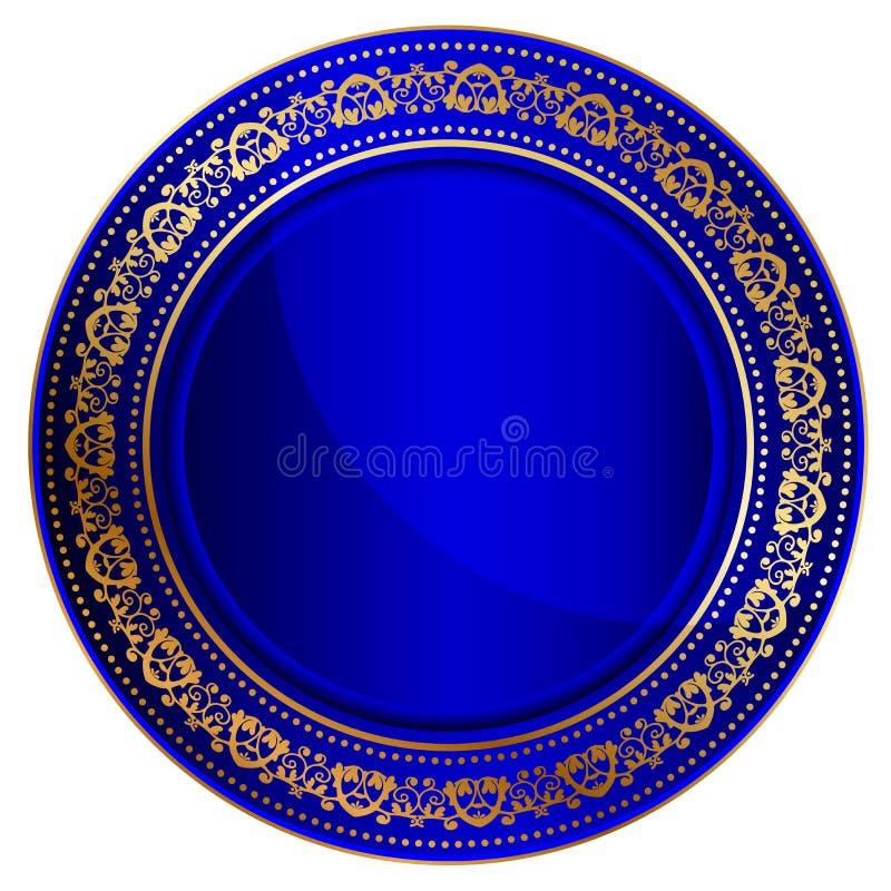 蓝色东方盘 皇族释放例证