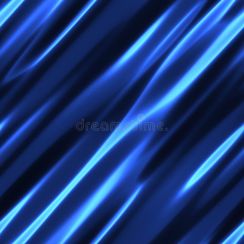 蓝色丝绸 向量例证