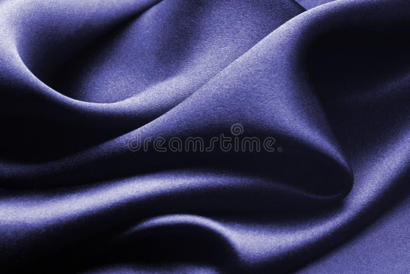 蓝色丝绸 库存照片