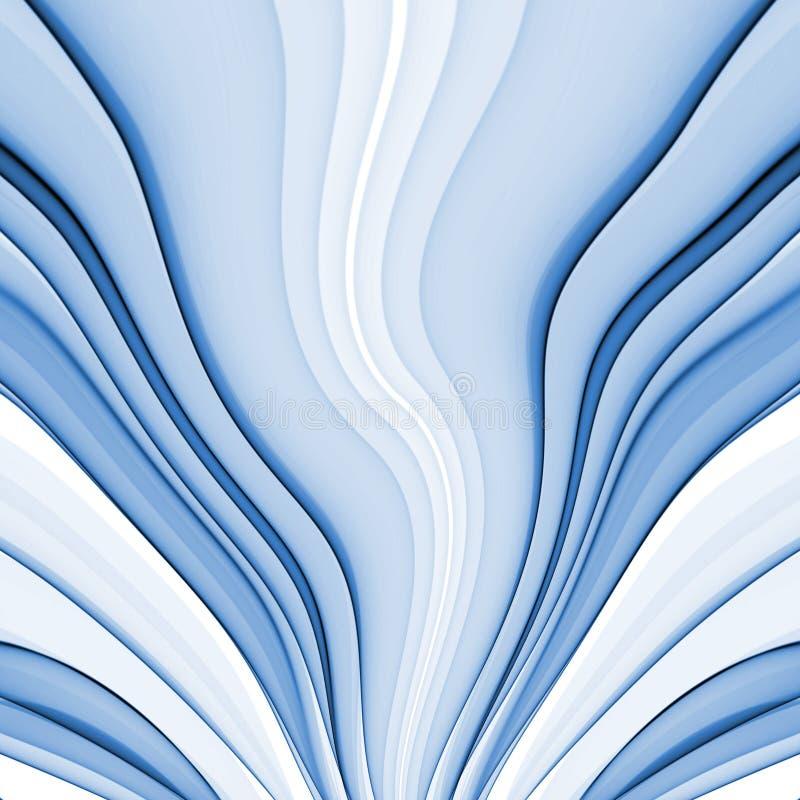 蓝色丝绸 皇族释放例证