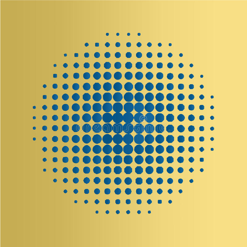 蓝色中间影调盘旋背景,半音光点图形图片
