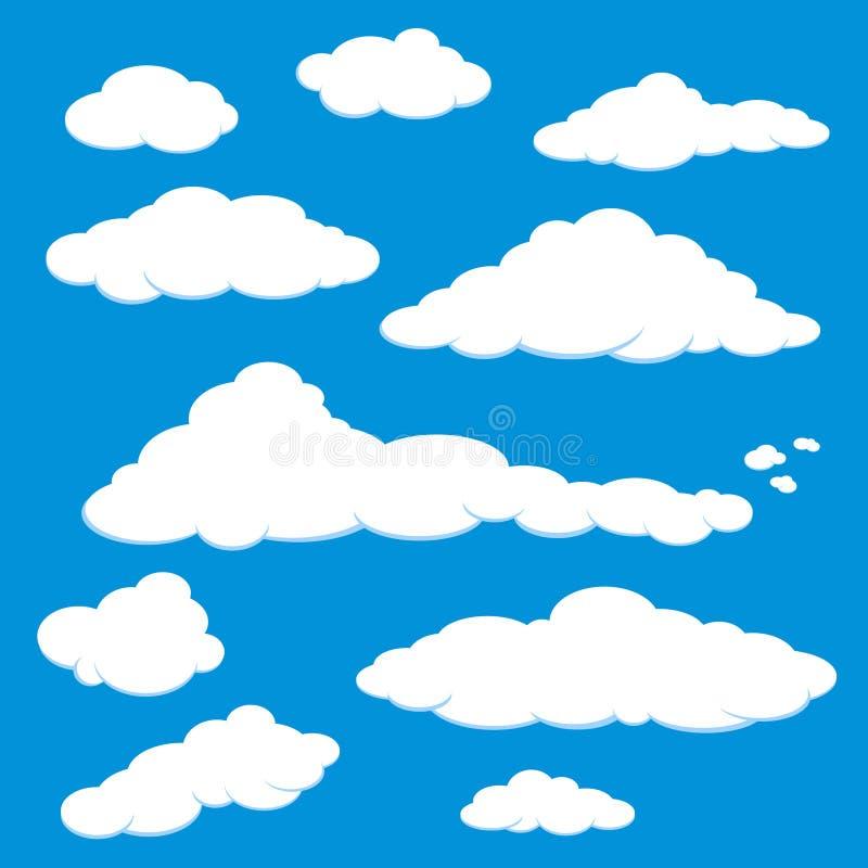 蓝色云彩天空向量 皇族释放例证