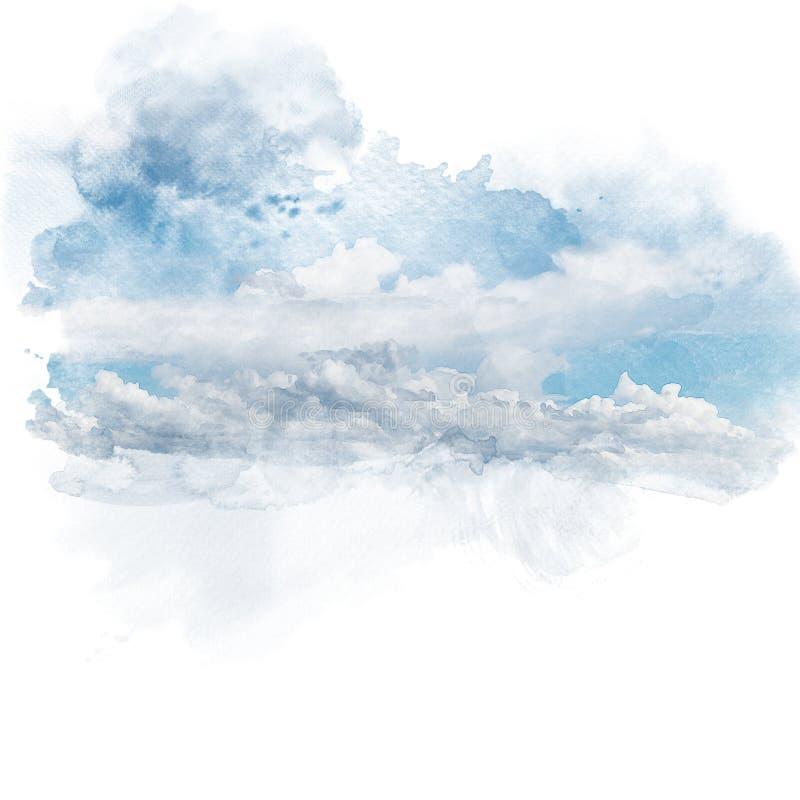 蓝色云彩天空白色 皇族释放例证