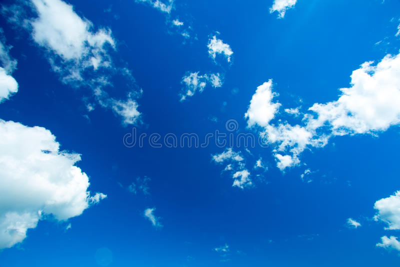 蓝色云彩天空 库存图片