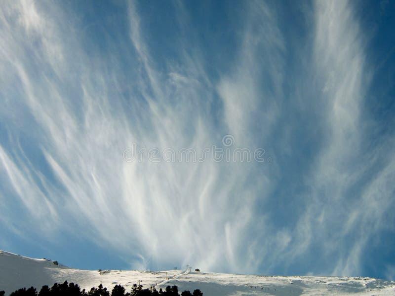 蓝色云彩形成天空 图库摄影