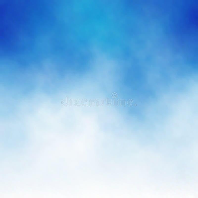 蓝色云彩 库存例证