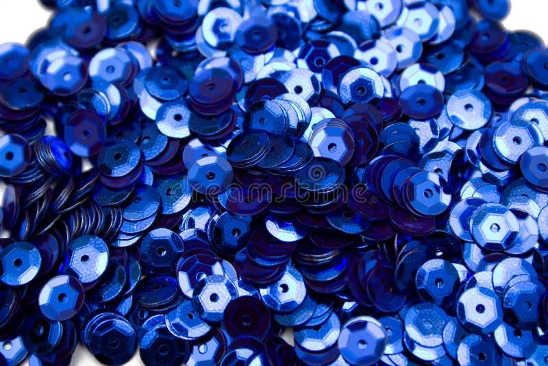 蓝色五彩纸屑 库存照片