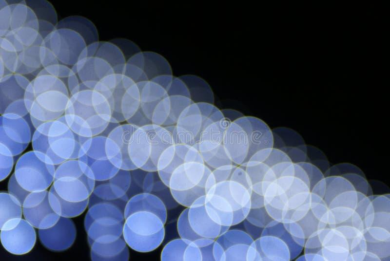 蓝色五颜六色的光 库存例证