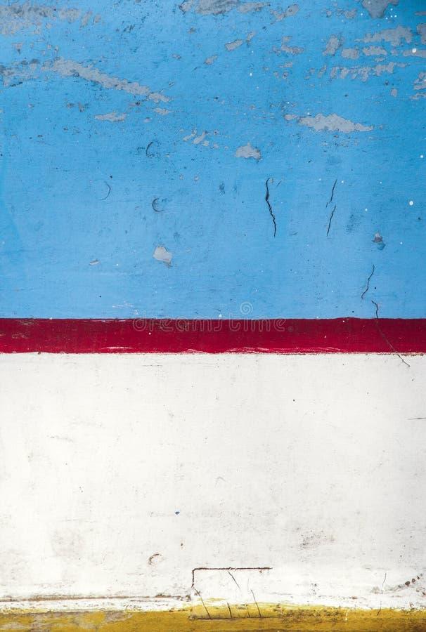 蓝色五颜六色的被抓的木纹理 免版税库存照片
