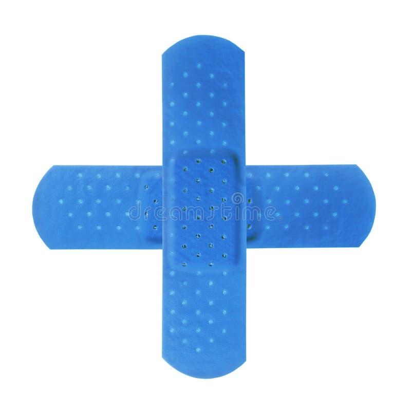 蓝色交叉 库存图片