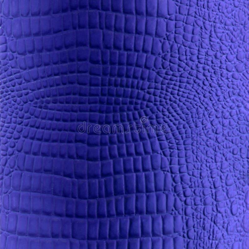 蓝色人造革爬行动物纹理 免版税库存图片